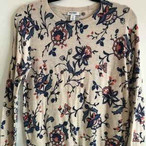Old Navy floral lightweight sweater